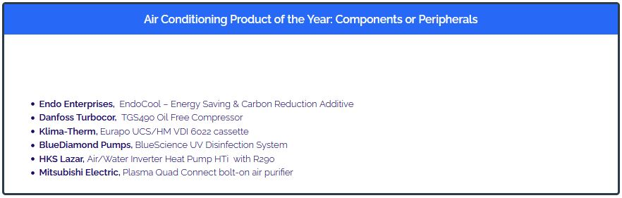 EndoCool - Shorlist for Air Conditioning Product of the Year 2021